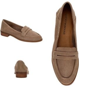 Lucky Brand Caylon - Tan Suede Loafers